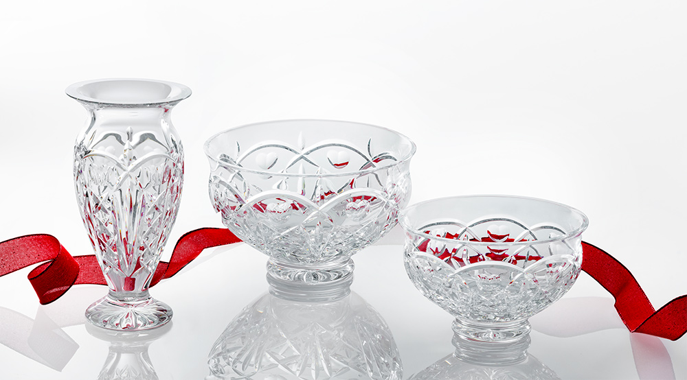 Waterford Vases and Red Ribbon