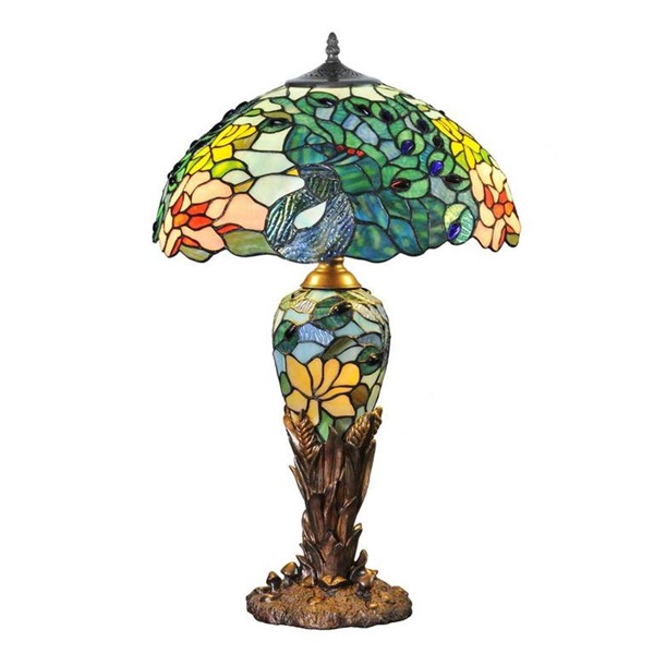 River Of Goods Peacock Double Lit Table Lamp Corning Museum Of Glass
