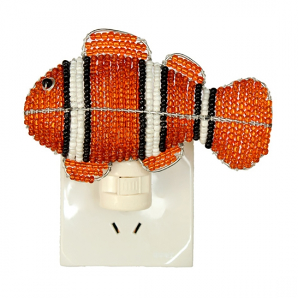 Beadworx: Beaded Clown Fish Night Light