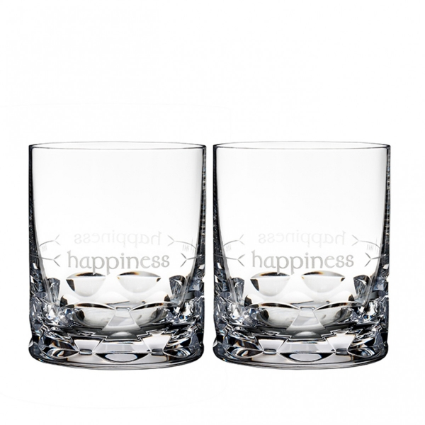 Waterford: Ogham Happiness Double Old Fashioned Glasses, Set of 2