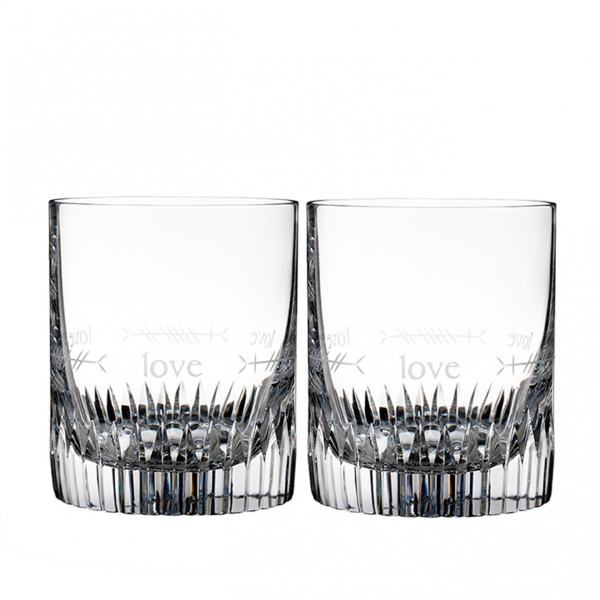 Waterford: Ogham Love Double Old Fashioned Glasses, Set of 2