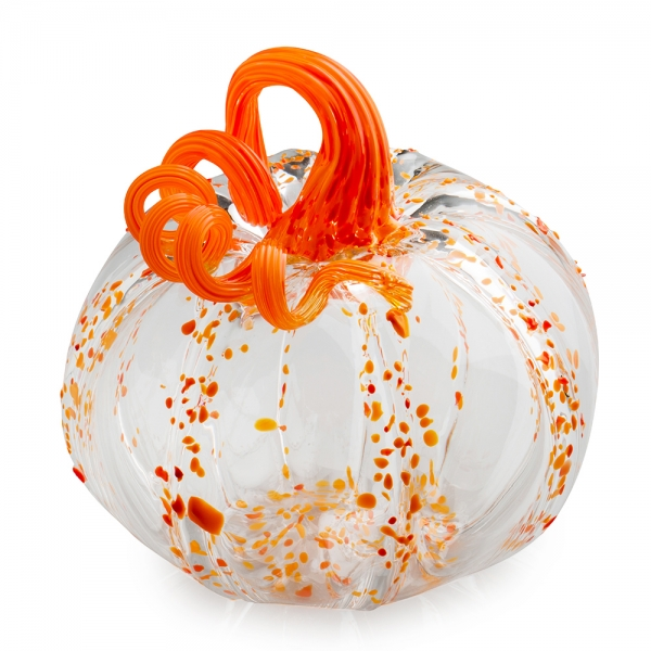 G. Brian Juk: Clear Pumpkin with Orange Speckles