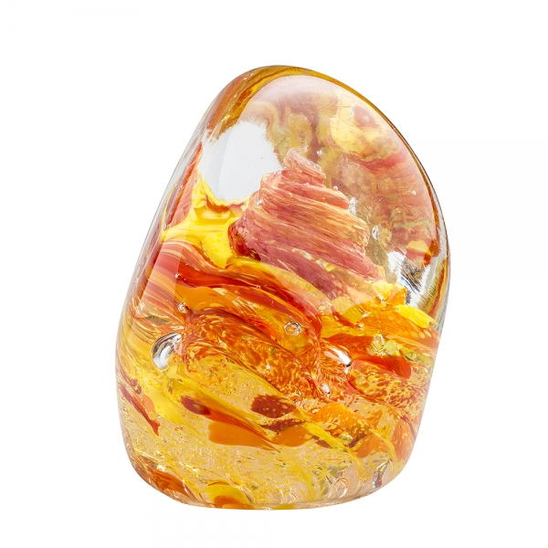 Hands on Glass: Organic Paperweight, Fall