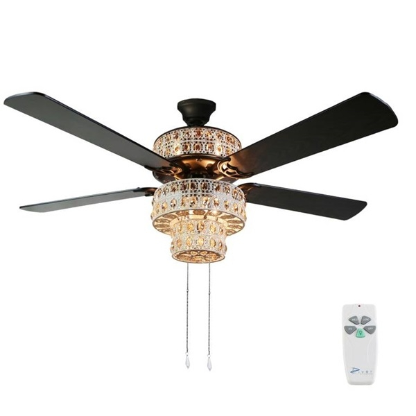 River of Goods: Champagne Crystal Ceiling Fan