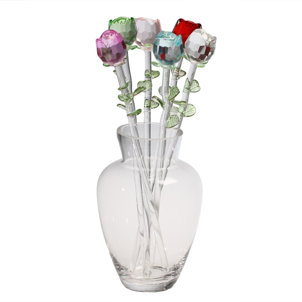 Pastel Roses In Vase Corning Museum Of Glass