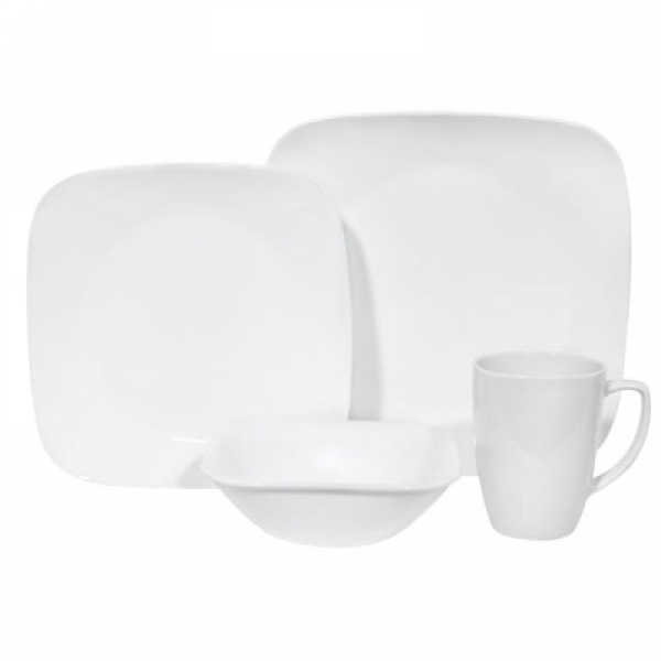 Corelle: Pure White Square 16-Piece Set