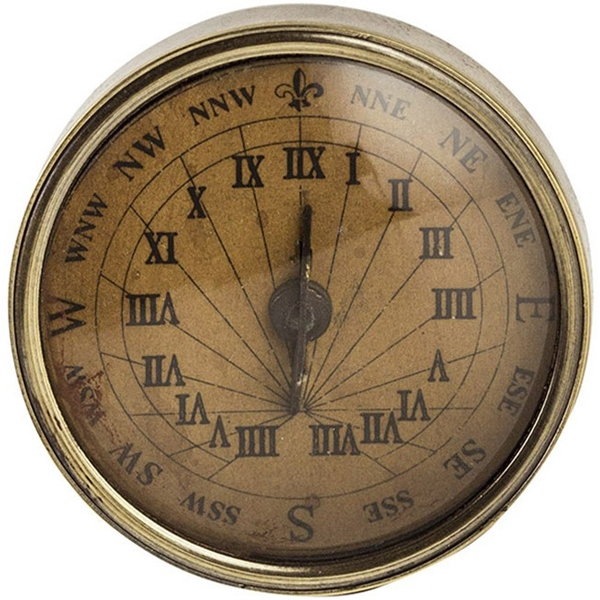 Authentic Models: 18th Century Pocket Compass/Sundial
