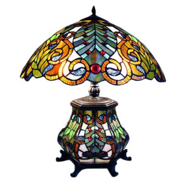 River Of Goods Victorian Double Lit Table Lamp Corning Museum Of