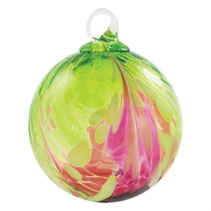 Glass Eye Studio: Classic Ornament, Bellina Orchid