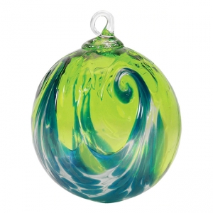 Glass Eye Studio: Classic Ornament, Aqua Wave