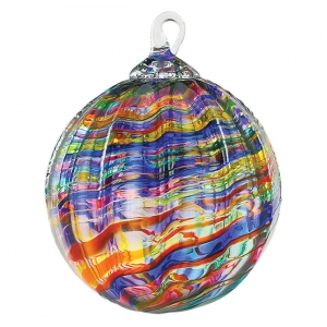 Glass Eye Studio: Classic Ornament, Rainbow Kaleidoscope