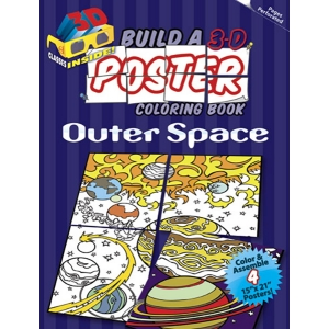 Build a 3-D Poster Coloring Book: Outer Space