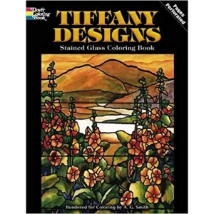 Dover Publications: Tiffany Designs Stained Glass Coloring Book