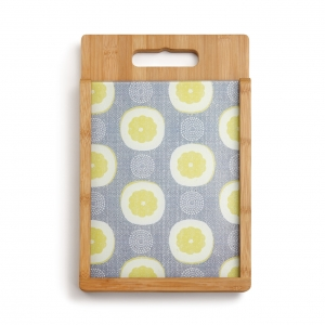 Demdaco: Lemons Glass & Wood Cutting Board Set