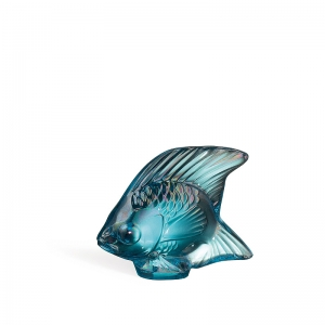 Lalique: Fish, Turquoise Luster