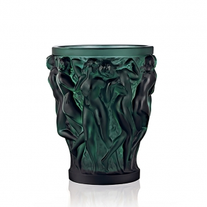 Lalique: Small Bacchantes Vase, Intense Green