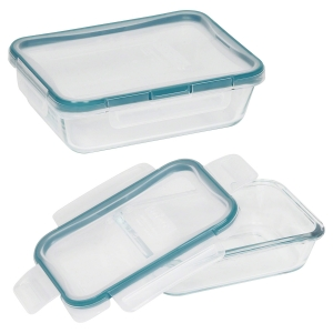 Pyrex: 4 Piece Rectangle Storage Container Set