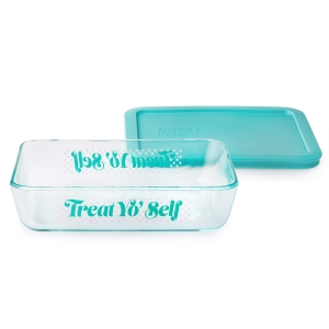 Pyrex: 3-Cup Storage Dish, Treat Yo Self