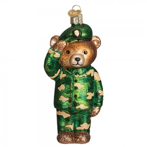 Old World Christmas: Army Bear