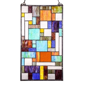 River of Goods: Mod Collage Glass Panel