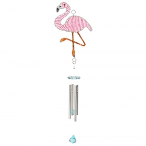 Beadworx: Beaded Flamingo Wind Chime, Small