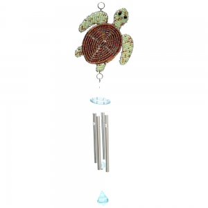 Beadworx: Beaded Sea Turtle Wind Chime, Small