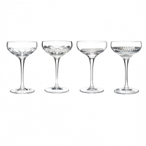 Waterford Mixology: Clear Coupes, Set of 4
