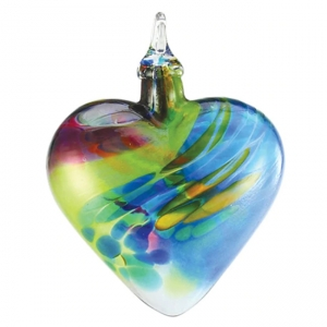 Glass Eye Studio: Heart Ornament, Chameleon