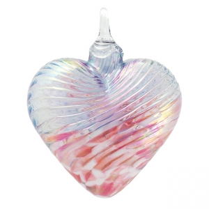 Glass Eye Studio: Heart Ornament, Cherry Blossom