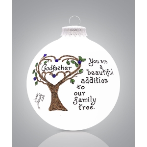 Heart Gifts by Teresa: Godfather with Tree Ornament