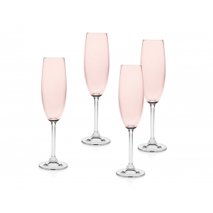 Godinger: Meridian Blush Flutes, Set of 4