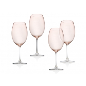 Godinger: Meridian Blush White Wine Glasses, Set of 4