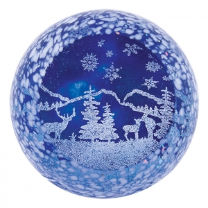 Glass Eye Studio: Winter Wonderland Paperweight