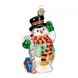 Old World Christmas: Candy Cane Snowman