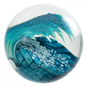 Glass Eye Studio: Cresting Wave Paperweight