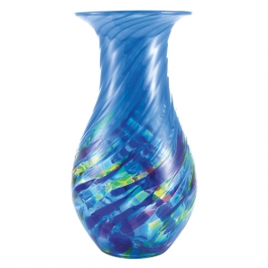 Glass Eye Studio: Vase, Blue Island Twist