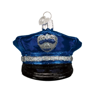 Old World Christmas: Police Officer's Cap