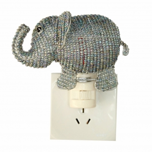 Beadworx: Beaded Elephant Night Light