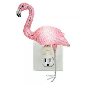 Beadworx: Beaded Flamingo Night Light