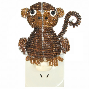 Beadworx: Beaded Monkey Night Light