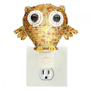 Beadworx: Beaded Owl Night Light