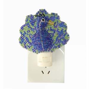 Beadworx: Beaded Peacock Night Light