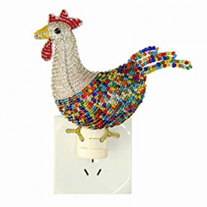 Beadworx: Beaded Rooster Night Light