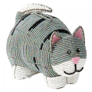 Beadworx: Beaded Cat Bank