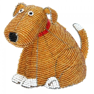 Beadworx: Beaded Dog Bank