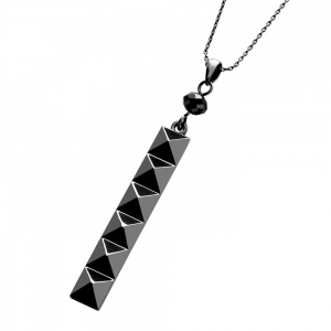 Waterford Rebel: Ella Drop Stud Pendant, Gunmetal