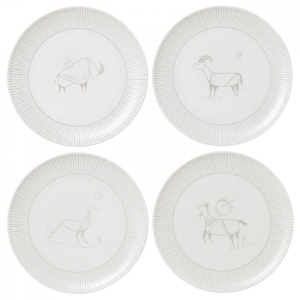 Royal Doulton: ED Cave Animal Plates, Set of 4