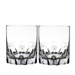Waterford: Ogham Joy Double Old Fashioned Glasses, Set of 2