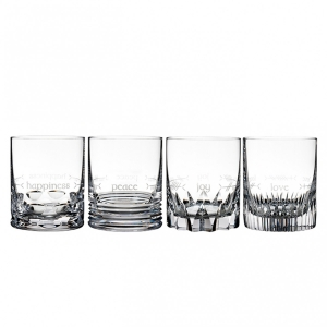 Waterford: Ogham Double Old Fashioned Glasses, Set of 4