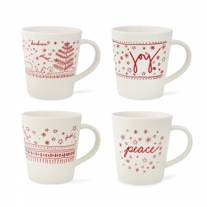 Royal Doulton: ED Holiday Mug, Set of 4